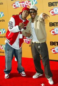 Brandon T. Jackson and Lil JJ at the 2005 BET Comedy Icon Awards.