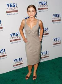 Olesya Rulin at the Yes! on Prop 2 Party.