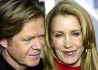 William H. Macy and his wife Felicity Huffman at the red carpet for the premiere of