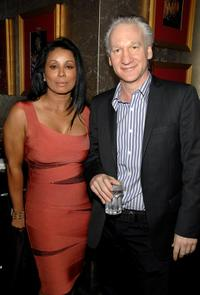 Wanda De Jesus and Bill Maher at the grand opening of Conga Room.