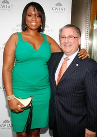 Jennifer Hudson and Guest at the grand opening of the Kwiat flagship boutique.