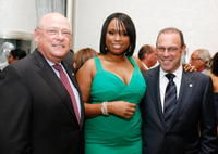Sheldon Kwiat, Jennifer Hudson and Lowell Kwiat at the grand opening of the Kwiat flagship boutique.