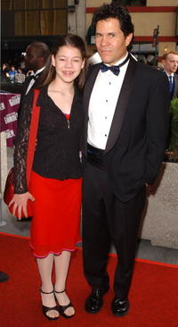A. Martinez and daughter at the 29th Annual Daytime Emmy Awards.