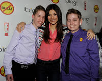 Alex Libby, Victoria Justice and Kelby Johnson at the California premiere of