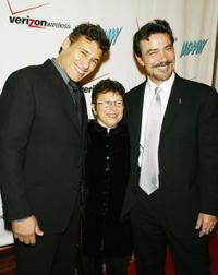 Steven Bauer, Patricia Giggins and Victor Rivers at the 33rd Annual Humanitarian Awards.