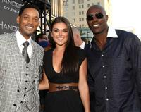 Will Smith, Serinda Swan and Terrell Owens at the premiere of
