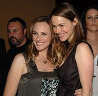 Marlee Matlin and Leisha Hailey at the season 5 premiere party for