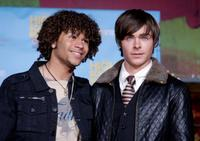 Corbin Bleu and Zac Efron at the DVD premiere of
