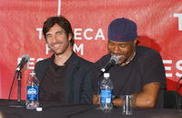 Dylan McDermott and Danny Green at the press conference for the film
