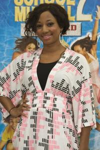 Monique Coleman at the promotional tour of High School Musical.