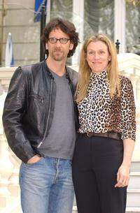 Frances McDormand and her husband Joel Coen at the Hotel Ritz for the Spanish premier of his latest movie