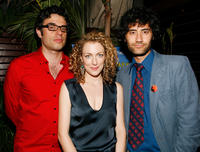 Jemaine Clement, Loren Horsley and Taika Waititi at the after party of the New York premiere of