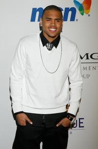 Chris Brown at the Legendary Clive Davis Pre-Grammy Party.