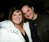Melissa McCarthy and Ben Falcone at the premiere of