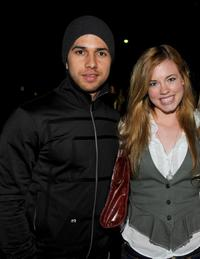 Walter Perez and Molly Burnett at the Invisible Children's The Rescue Rally.