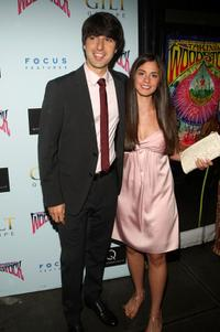 Demetri Martin and Rachel Beame at the premiere of