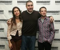 Alfred Molina, Jessica Hecht and Euan Morton at the rehearsals for Roundabout Theatre Company's new play
