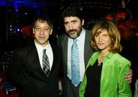 Alfred Molina, Sam Raimi and Amy Pascal at the after-party for the premiere of