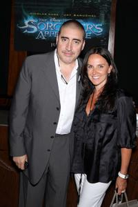 Alfred Molina and Guest at the world premiere of