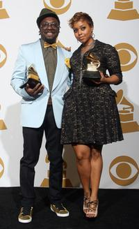 will.i.am and Chrisette Michele at the 51st Annual Grammy Awards.