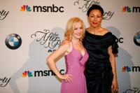 Angela Kinsey and Ann Curry at the MSNBC after party following the White House Correspondents Association dinner.
