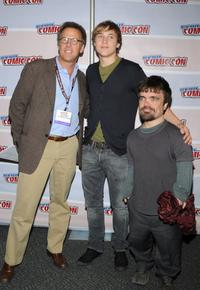 Mark Johnson, Ben Barnes and Peter Dinklage at the Prince Caspian panel preview at New York ComicCon.