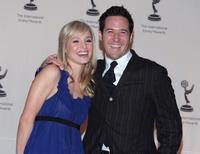 Rob Morrow and Kristen Bell at the 35th Annual International Emmy Awards.