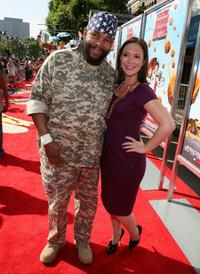 Mr. T and Hannah Minghella at the premiere of
