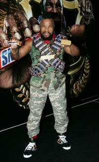 Mr. T at the promotional tour for Snickers.