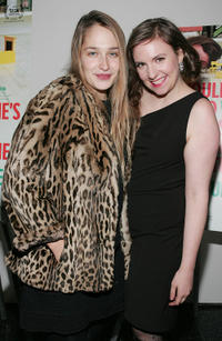 Jemima Kirke and Lena Dunham at the New York premiere of