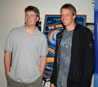 Steve Wiebe and Tony Hawk at the Los Angeles premiere of