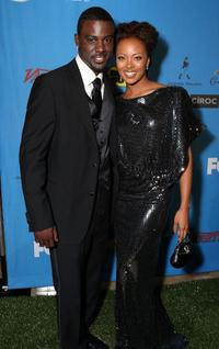 Lance Gross and Eva Pigford at the 39th NAACP Image Awards.