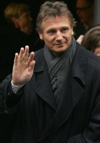 Liam Neeson at the press conference for his film