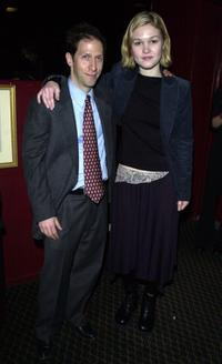 Tim Blake Nelson and Julia Stiles at the Soho Rep. theater company benefit.
