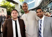 Jonah Hill, RZA and Aziz Ansari at the premiere of