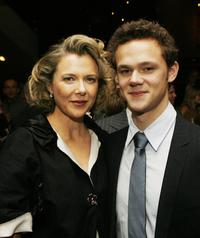 Annette Bening and Joseph Cross at the afterparty for the premiere of