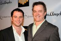 Matthew Rhys and Michael O'Keefe at the Brothers & Sisters Season 4 premiere party.