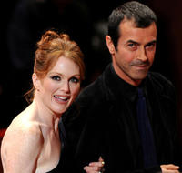 Julianne Moore and Andrea Occhipinti at the 5th International Rome Film Festival in Italy.