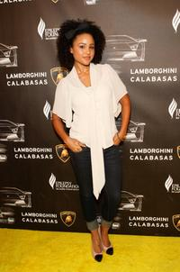 Hayley Marie Norman at the grand opening of Lamborghini Calabasas.