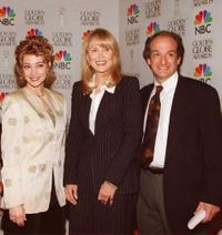 Sharon Lawrence, Faye Dunaway and David Paymer at the 53rd Annual Golden Globe Awards.