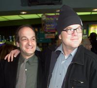 David Paymer and Philip Seymour Hoffman at the premiere of