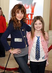 Bella Thorne and Morgan Lily at the premiere of