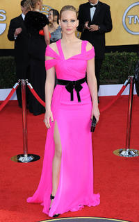 Jennifer Lawrence at the 17th Annual Screen Actors Guild Awards in California.