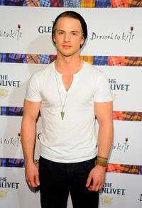 Freddie Stroma at the 9th Annual Dressed To Kilt Charity Fashion Show in New York.