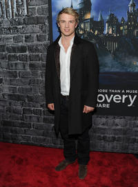Freddie Stroma at the Grand Opening of Harry Potter: The Exhibition in New York.