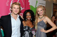 Freddie Stroma, Jennifer Leigh Warren and Veronica Dunne at the opening night gala of