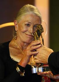 Vanessa Redgrave at the German entertainment awards' ceremony.