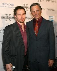 Sam Rockwell and Viggo Mortensen at the 2008 CineVegas film festival honoree awards ceremony and reception.
