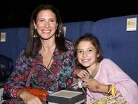 Mimi Rogers and daugther Lucy Rogers-Ciaffa at the Enyce/Lady Enyce Spring 2005 show at the Mercedes-Benz Fashion Week.