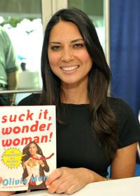 Olivia Munn at the book signing during the Comic-Con 2010.